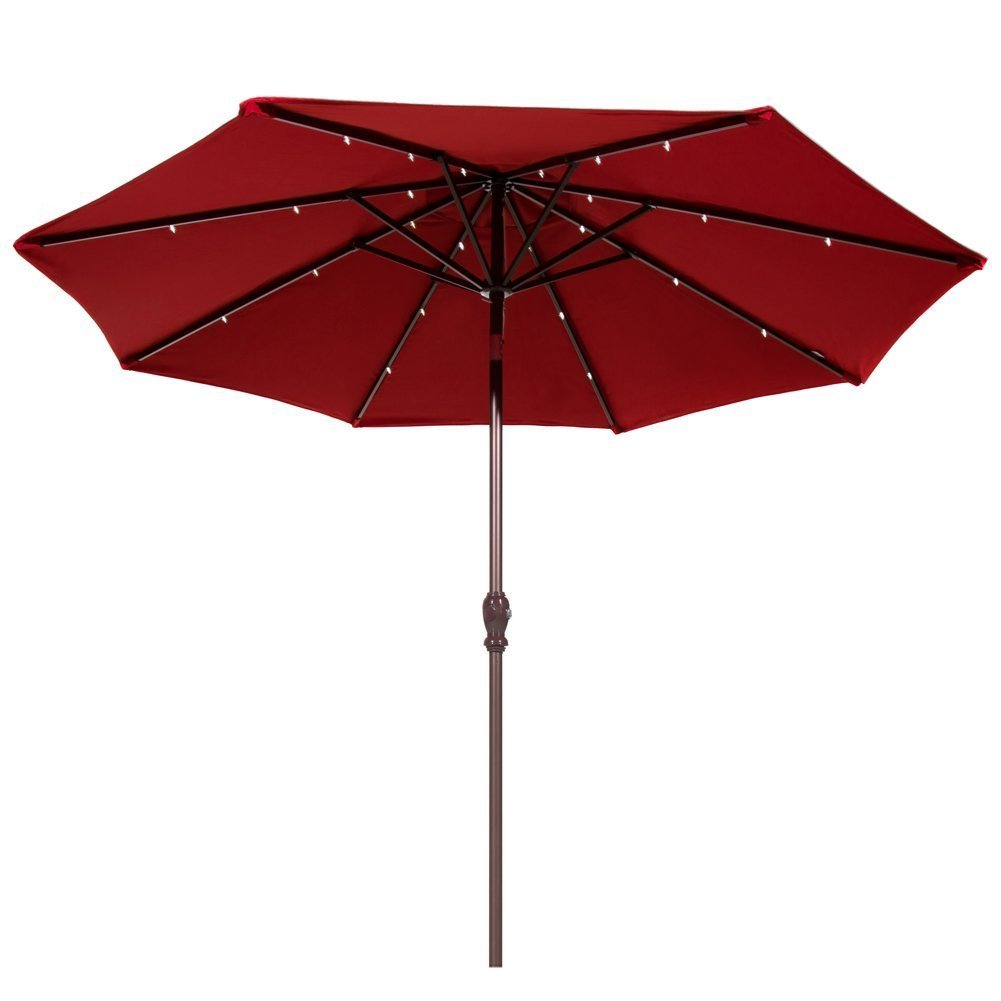 Best Solar Patio Umbrellas And Umbrella Lights
