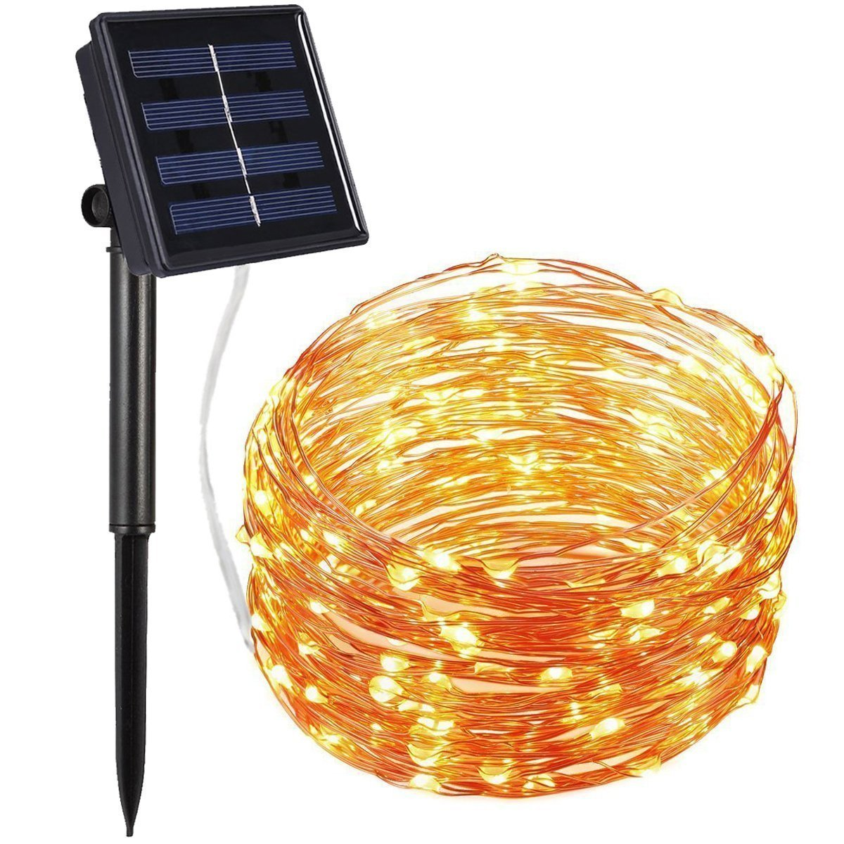 Solar Porch String Lights : Best solar powered string Christmas lights LEDwatcher