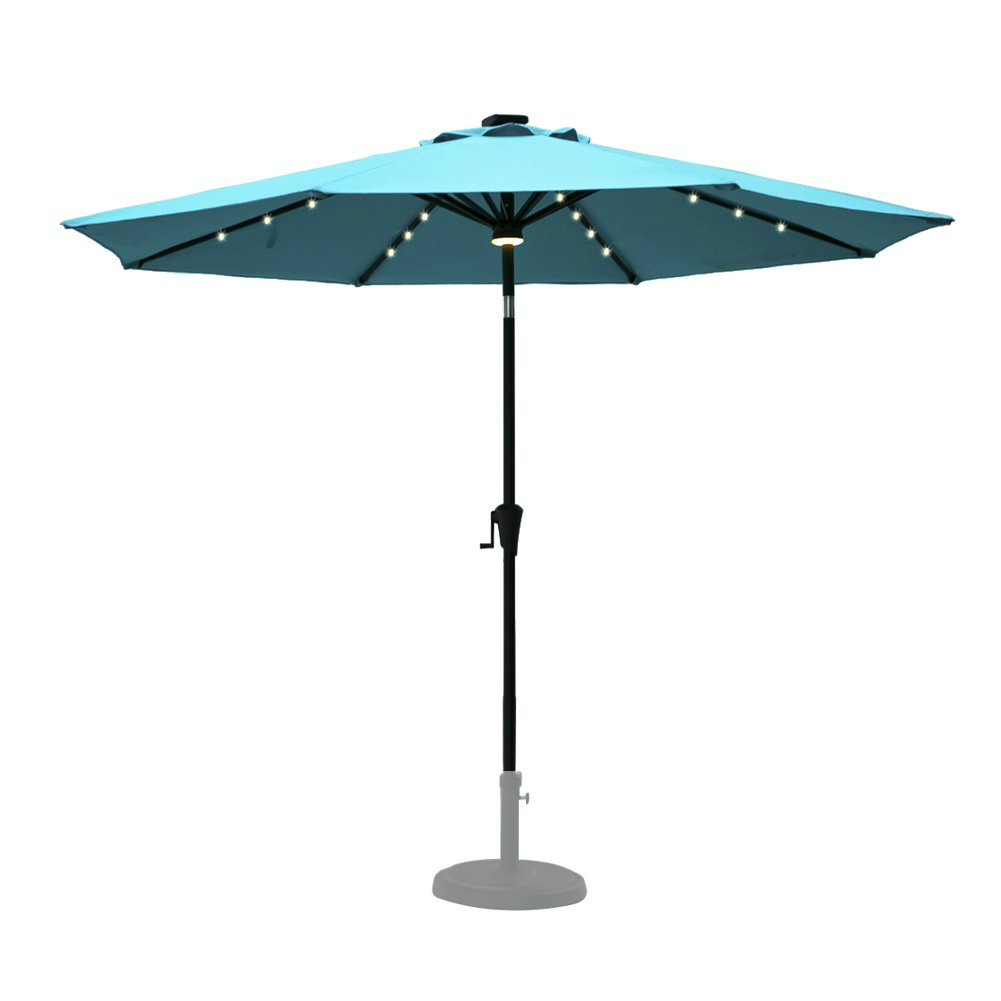 Best solar patio umbrellas and umbrella lights ledwatcher for Best outdoor umbrellas reviews