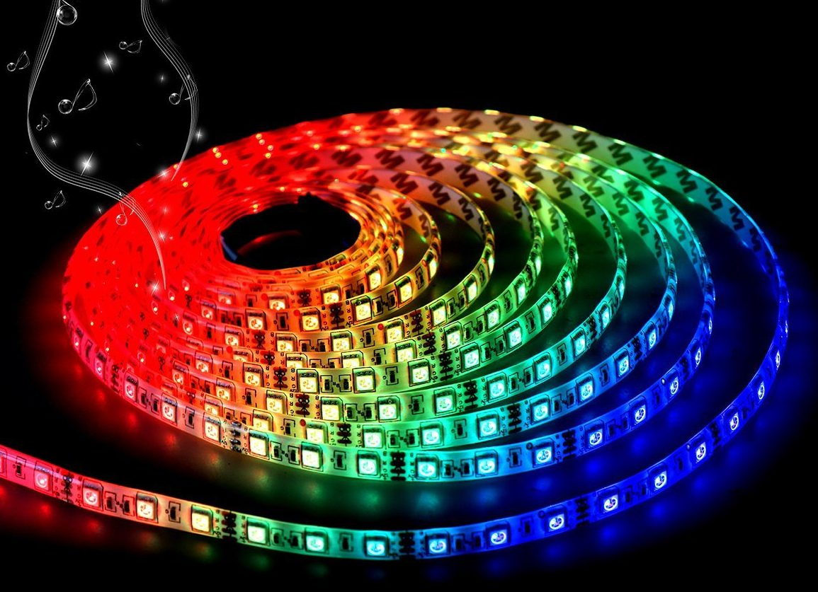 Best led strip lights ledwatcher dotstone led music syncing strip lights aloadofball Image collections