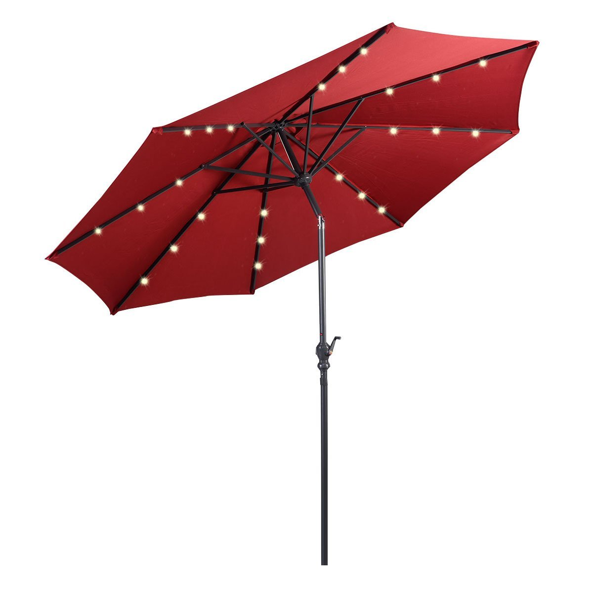 Giantex Patio Umbrella With Solar LED Lighting