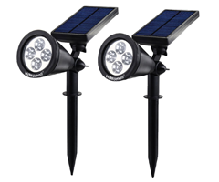 Best solar outdoor lights ledwatcher hallomall spotlights dark garden no more illuminate your backyard patio or walkway with this hallomall solar lamp that features things like up to 8 hours aloadofball Image collections