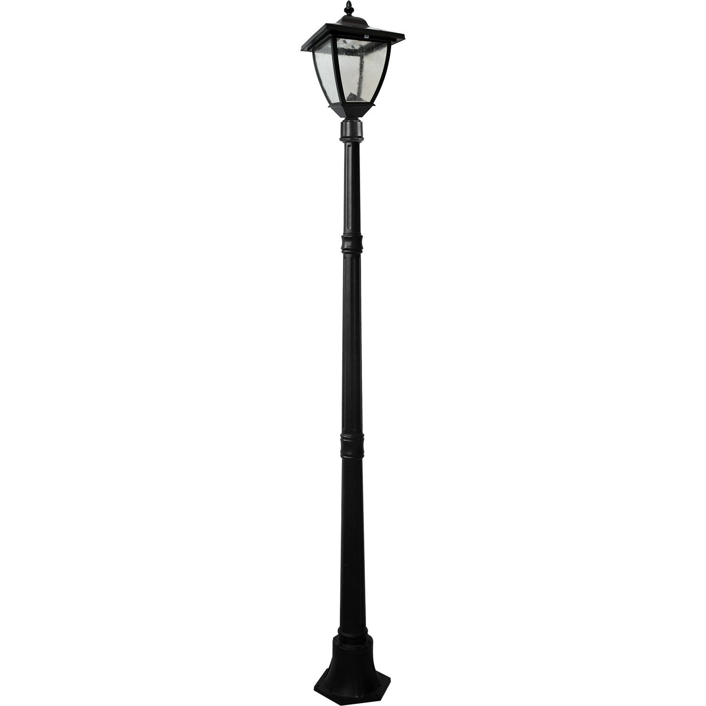 Black Led Solar Powered 5 Ft Traditional Garden Lamp Post: Best Solar Street Light Lamp Posts