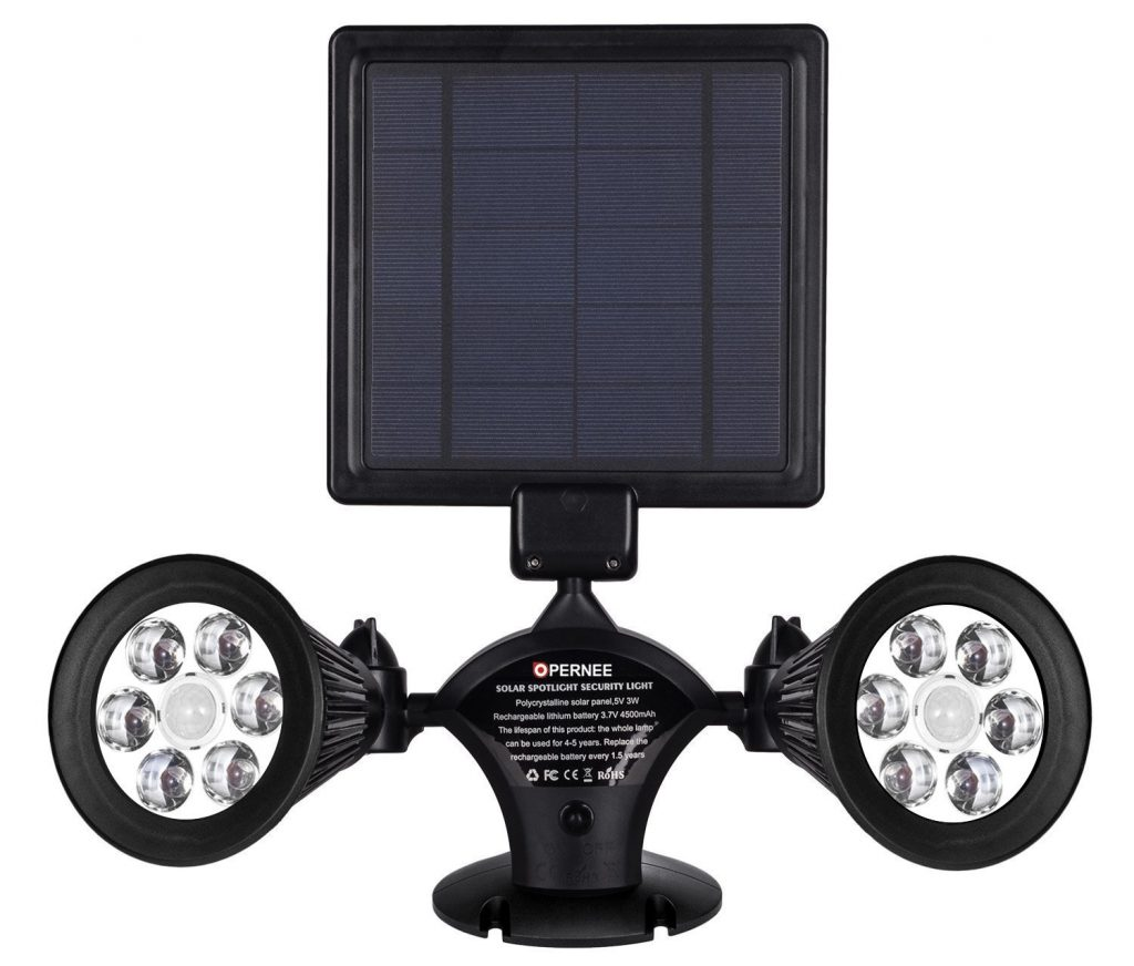 15 Best Solar Flood Lights 2018 Reviewed Ledwatcher Switches Include Dimmers Motion Sensors Photocells Timed There Are 6 Dual Head Led Included With This Product Each Light Comes Equipped A Lamp On Either Side And Emits 50 Lumens Of