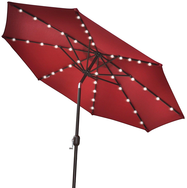 Best solar patio umbrellas and umbrella lights