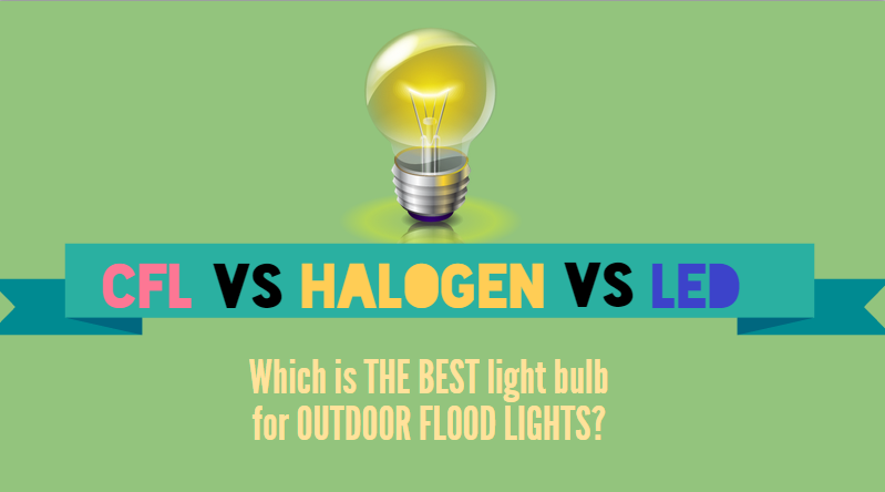 CFL Halogen And LED Light Bulb Comparison Operation Usage In Outdoor Flood Fixtures