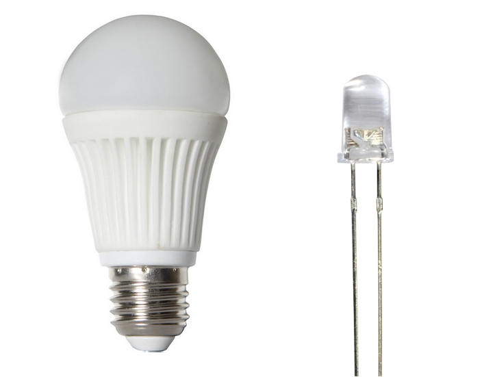 LED light bulb and diode