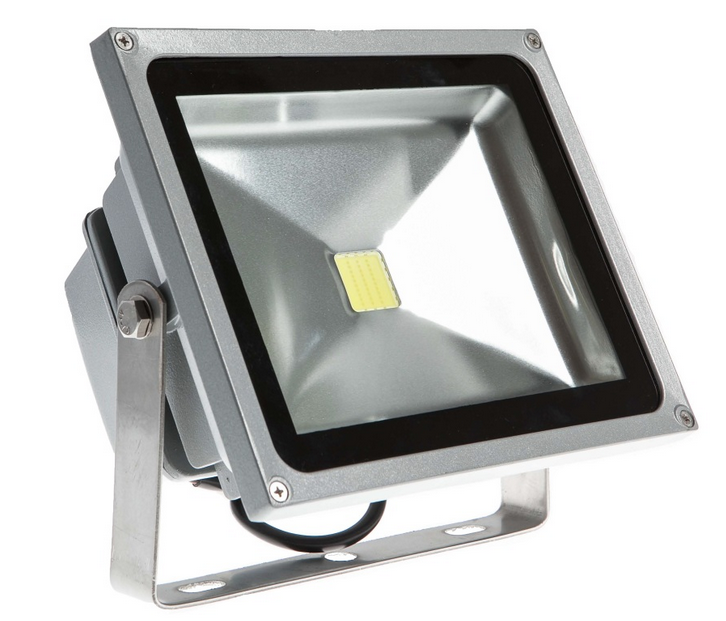 wired flood light
