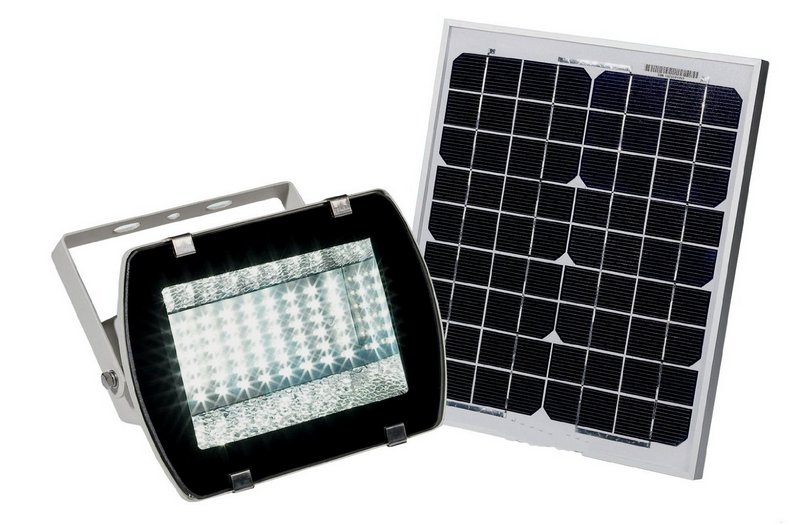 reusable revolution flood light with monocrystalline solar panel