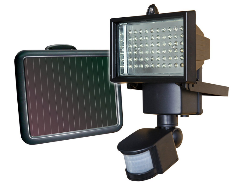 sunforce flood light with amorphous solar panel