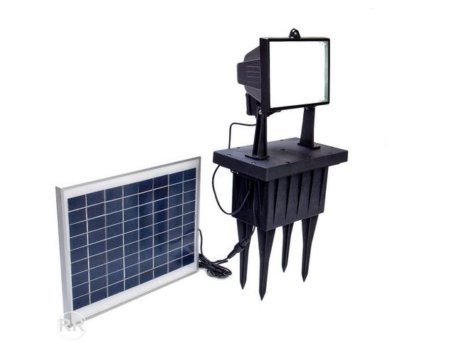 Lead acid battery powered solar light