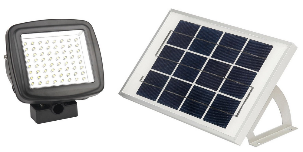 Lithium-ion battery powered solar light