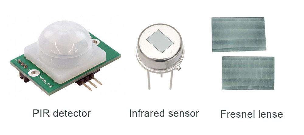 PIR-detector-parts