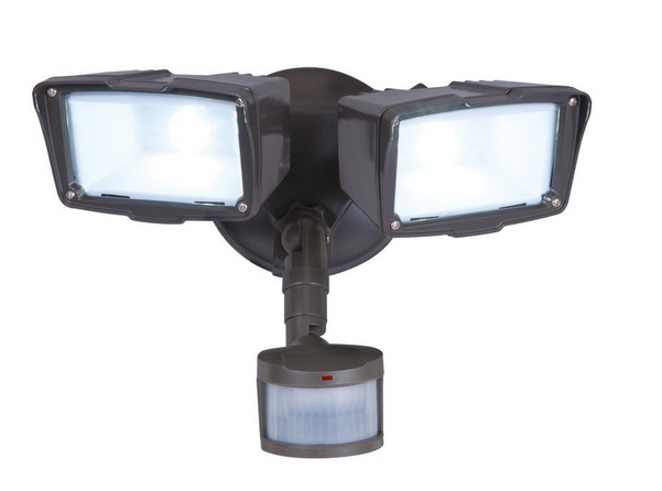 Security flood light with PIR detector