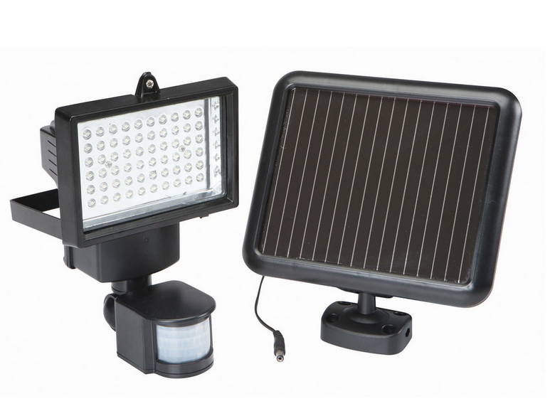 Solar motion lighting