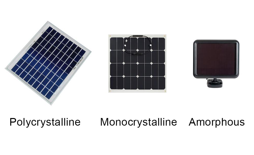 flood-light-solar-panel-types