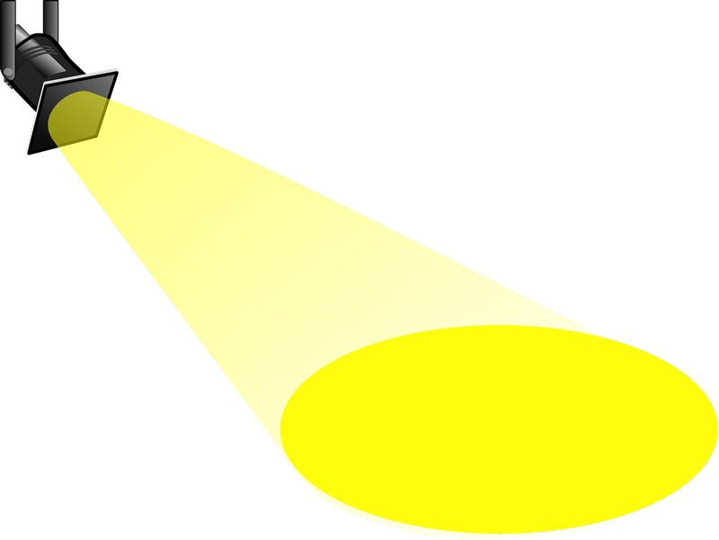 Spotlight illuminating