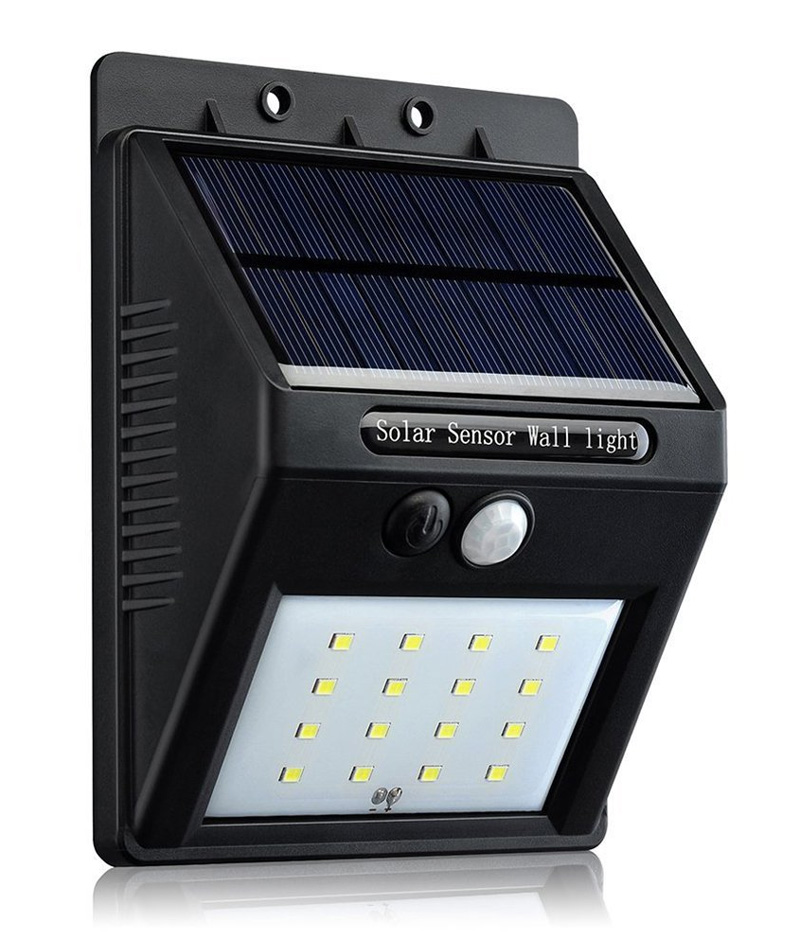 LED light with solar panel and motion sensor