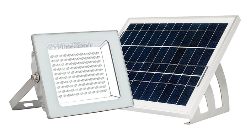 MicroSolar 120 LED Solar Flood Light