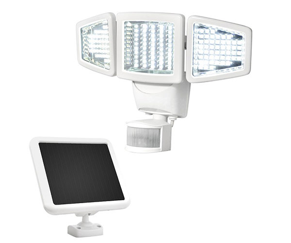 SunForce-150-LED-Triple-Head-Flood-Light  sc 1 st  LEDwatcher : cheap security lights outdoor - www.canuckmediamonitor.org