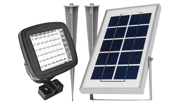 15 best solar flood lights 2018 reviewed ledwatcher the flood light has got 64 led diodes that produce total 180 lumens of light enough to illuminate not only some landscape objects but also a smaller aloadofball Images