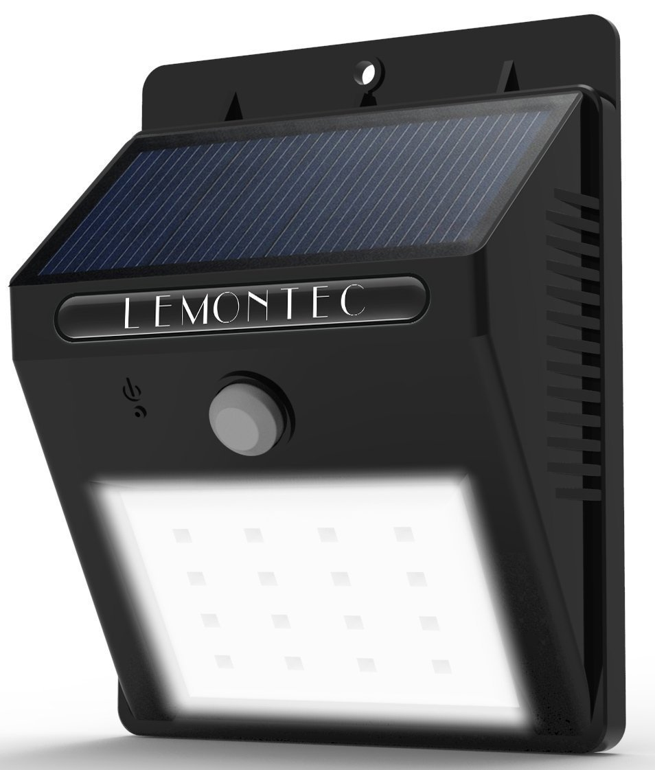 Best solar powered security and motion lights ledwatcher lemontec solar spotlight with motion sensor aloadofball Gallery