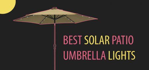 Solar Patio Umbrella Ledwatcher, Patio Umbrellas With Solar Lights