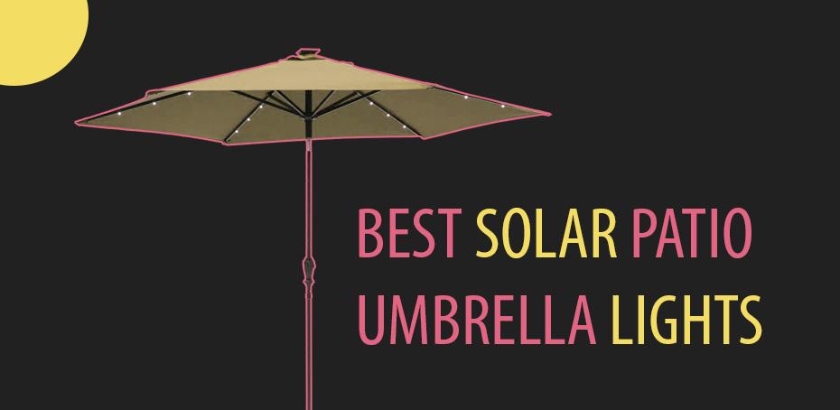 Solar Lights For Patio Umbrellas Impressive Best Solar Patio Umbrellas And Umbrella Lights LEDwatcher